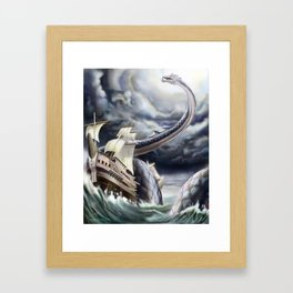 A Fishermen's Nightmare Framed Art Print