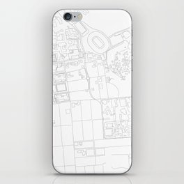 Abstract Map of UC Berkeley Campus iPhone Skin