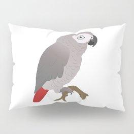 Cute African grey parrot vector Pillow Sham