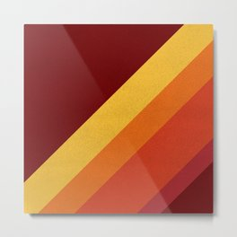 Retro 70s Color Palette II Metal Print