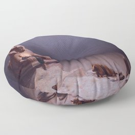 Luc-Olivier Merson's Rest on the Flight into Egypt Floor Pillow
