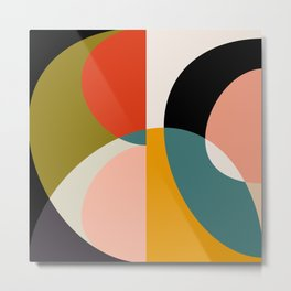 geometry shapes 3 Metal Print