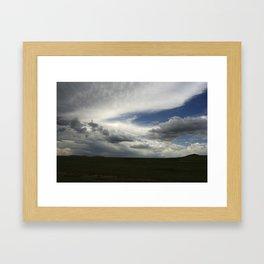 LIGHT IN THE SKY Framed Art Print