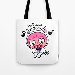Pinky & choco : MIAW MIAW Tote Bag