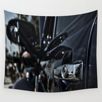 volkswagen Wall Tapestries featuring volkswagen turtle by gzm_guvenc