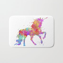 Watercolor Unicorn Bath Mat