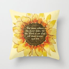 The Word of our God will stand forever Throw Pillow