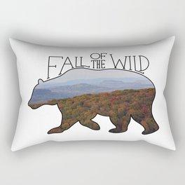 Fall of the Wild Autumn Mountain Wilderness Landscape Bear Silhouette Rectangular Pillow
