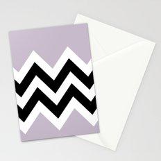 LIGHT PURPLE COLORBLOCK CHEVRON Stationery Cards