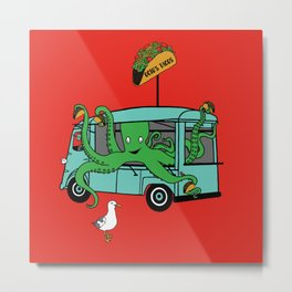 Flock of Gerrys Octo's Taco Cart by Seasons Kaz Sparks Metal Print