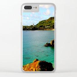 Waimea Bay ... By LadyShalene Clear iPhone Case