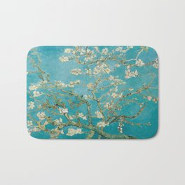 Vincent Van Gogh's Branches of an Almond Tree in Blossom Bath Mat