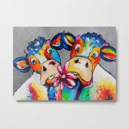 Cows date Metal Print