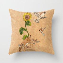Bobcats & Beeswax Throw Pillow