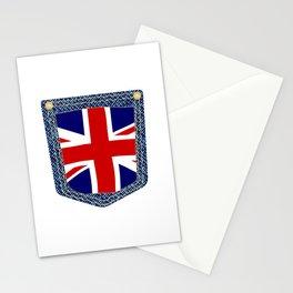 Union Jack Denim Pocket Stationery Cards