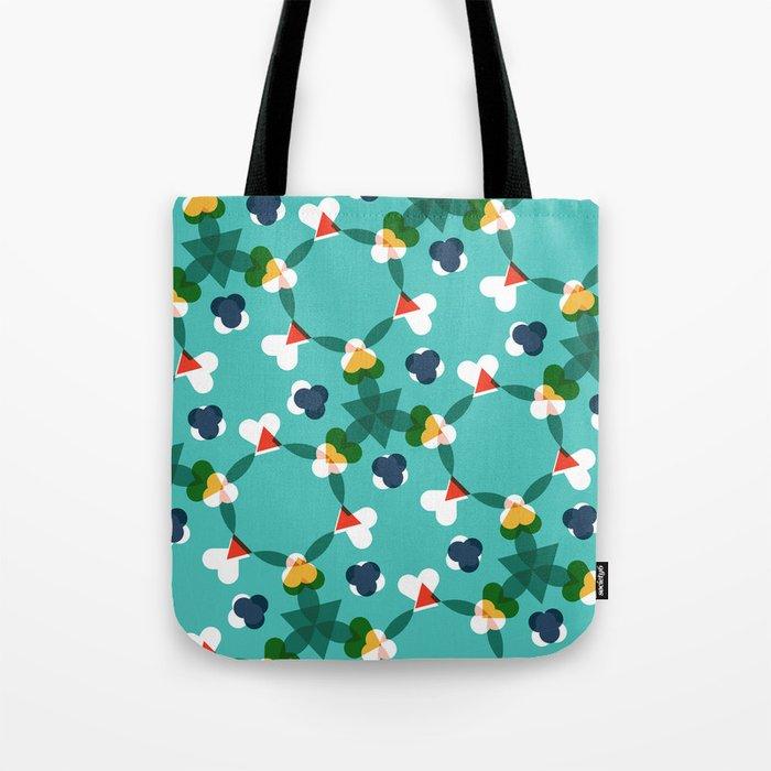 Kaleidoscope aqua Tote Bag