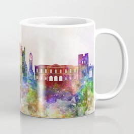 Exeter skyline in watercolor background Coffee Mug