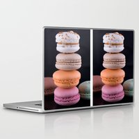 macaroons Laptop & iPad Skins featuring Macaroons  by Michael P. Moriarty