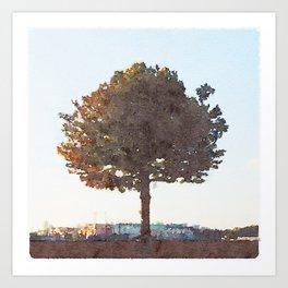 City Tree Art Print