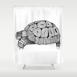 Black and White Tortoise Shower Curtain