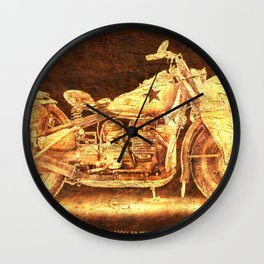 Harley D 750cc XA Military Motorcycle, poster for bikers Wall Clock