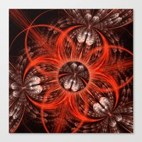 Canvas Prints featuring Textures, scratches and patterns abstract by thea walstra