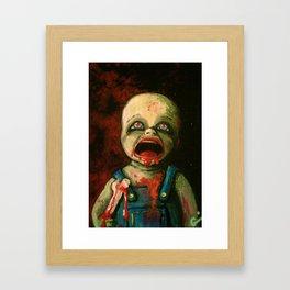 Hungry Baby Framed Art Print