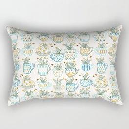 Tea Time // Tea Lovers // Botanical Bees Rectangular Pillow