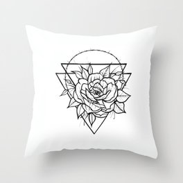 Crown Of Thorns - B&W Throw Pillow