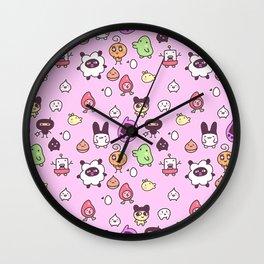 Tamagotchi Pattern Wall Clock