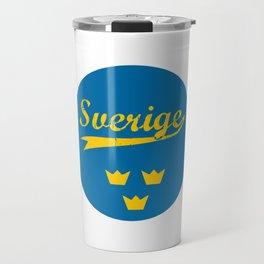 Sweden, Sverige, circle Travel Mug