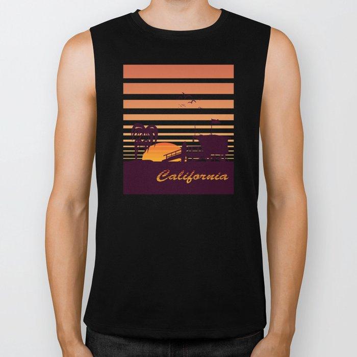 California surfing Biker Tank