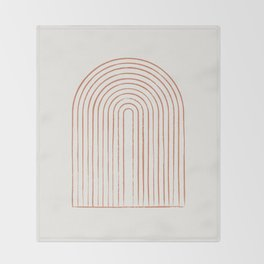 Arch Dusty Orange Throw Blanket