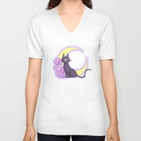 enerjax V-neck T-shirts featuring Luna by enerjax