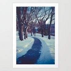 A long & winding road Art Print