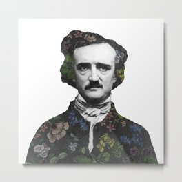 A Posy of Poe Metal Print