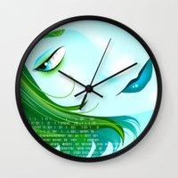cyberpunk Wall Clocks featuring Cyberpunk by Sandra Höfer
