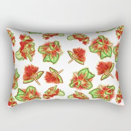 Native Australian Flower Print Rectangular Pillow