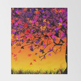 The Scent Of Halloween Autumn Tree Decke
