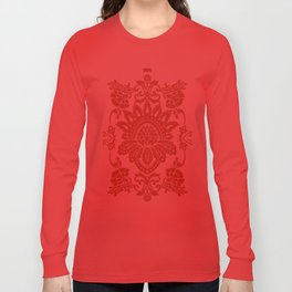 Damask in red Long Sleeve T-shirt