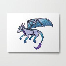 Little Blue Dragon Metal Print