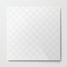 Dotty Scallop Metal Print