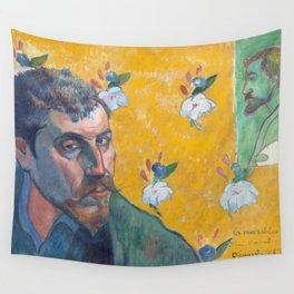 1888 - Gauguin - Self-portrait with portrait of Bernard, 'Les Misérables Wall Tapestry