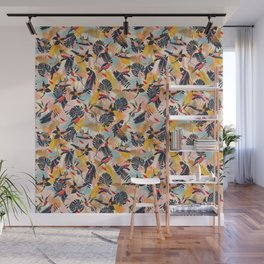 Paradise Birds II. / Small Scale Pattern Wall Mural