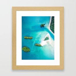 Turquoise Tropical Ocean Framed Art Print