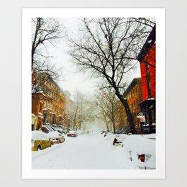 NYC @ Snow Time Art Print