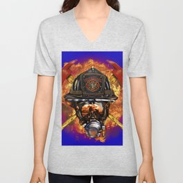 Firefighter rescue volunteer Unisex V-Neck