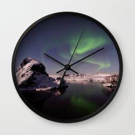 Northern Lights or Aurora Borealis - Alaska Wall Clock