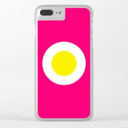 Fried egg on Pink Clear iPhone Case