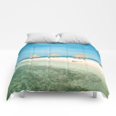 Waves and Clouds Comforters